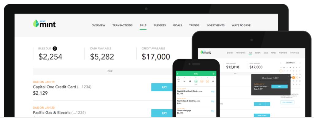 mint.com - goal tracking